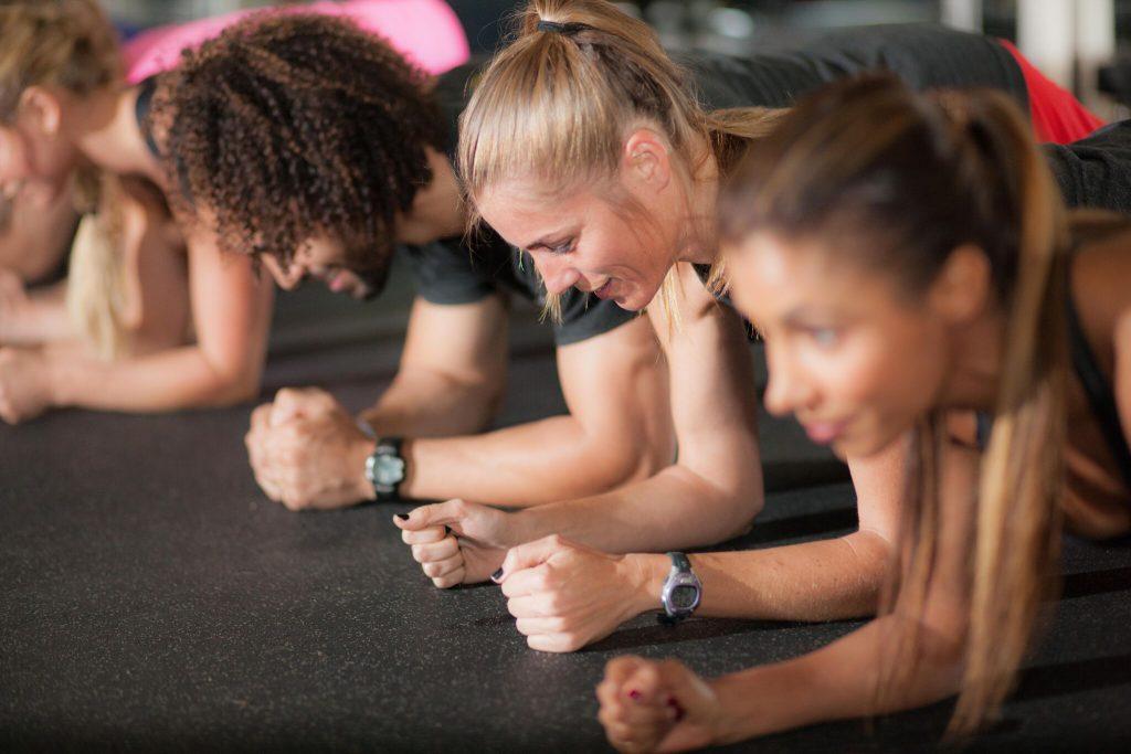 group personal training fitness studio